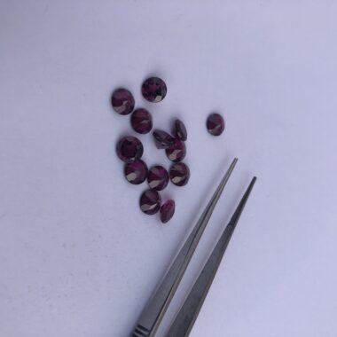 rhodolite garnet round gemstoneq