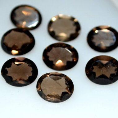 3x2mm smoky quartz oval cut