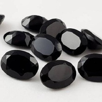 4x6mm Natural Black Spinel Oval Cut Gemstone