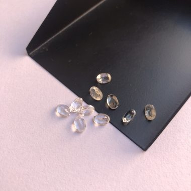 white topaz oval gemstone