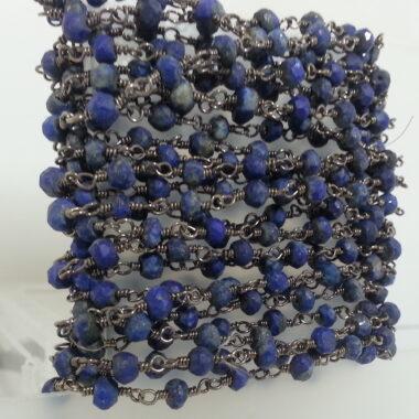 Lapis Lazuli Beads Rosary Chain