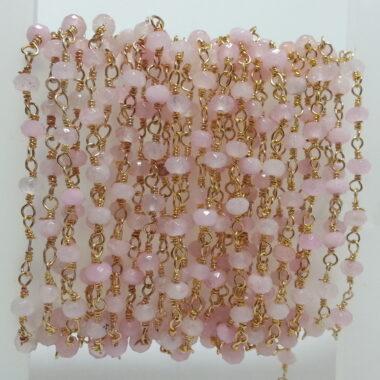 Shop Pink Rose Quartz Beads Rosary Chain