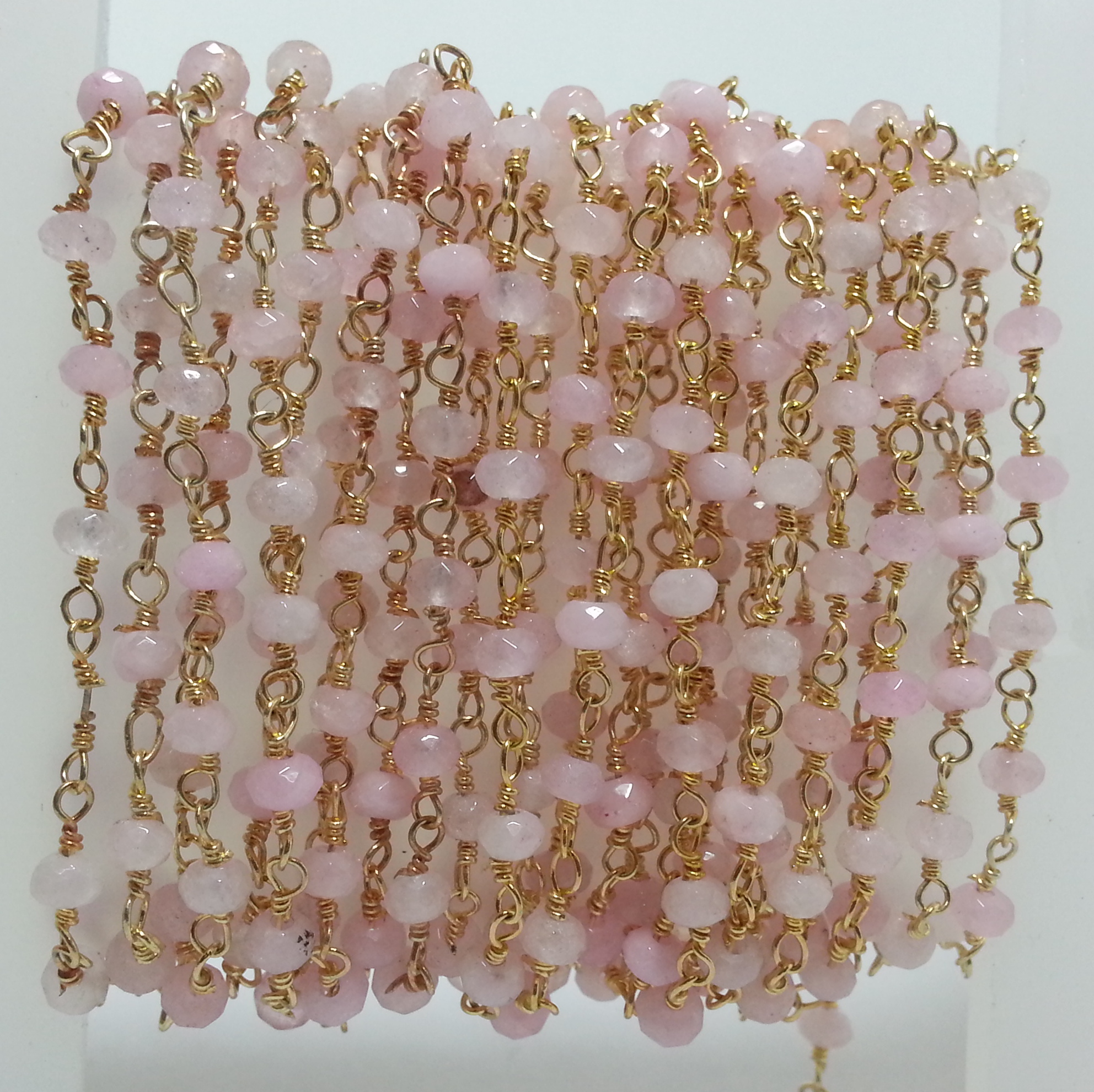 Shop Pink Rose Quartz Beads Rosary Chain   Get FREE SHIPPING