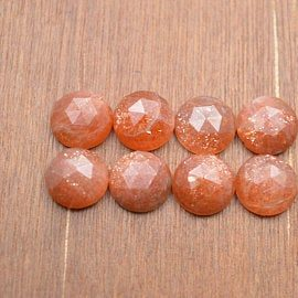 4mm sunstone rose cut