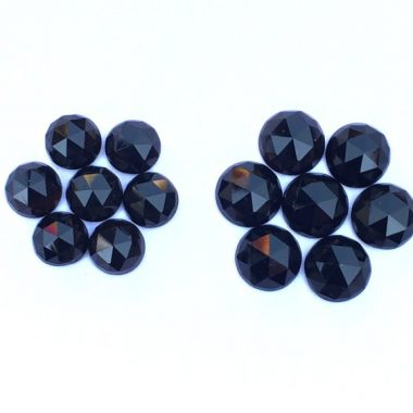 6mm black spinel rose cut