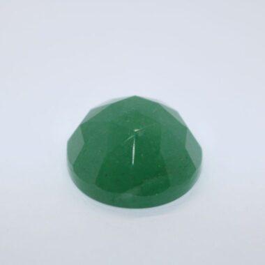 6mm Natural Green Aventurine Round Rose Cut Cabochon