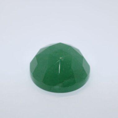 5mm Natural Green Aventurine Round Rose Cut Cabochon