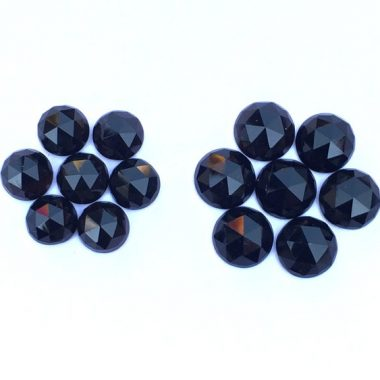 6mm black onyx rose cut