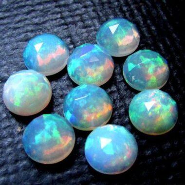 6mm ethiopian opal rose cut