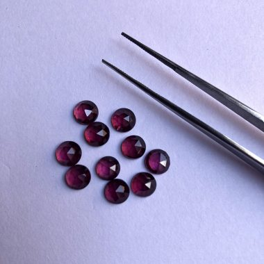 6mm rhodolite garnet rose cut