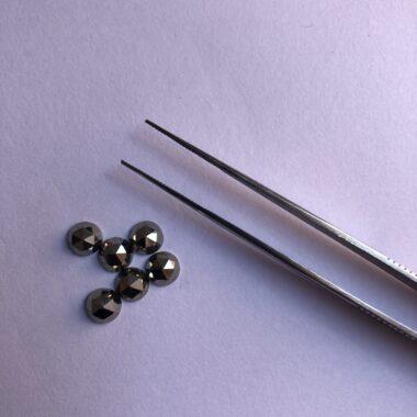 3mm pyrite rose cut