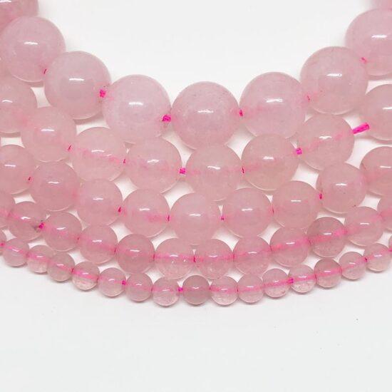 Shop 10mm Natural Rose Quartz Smooth Round Beads