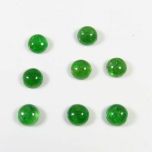 green garnet cabochon
