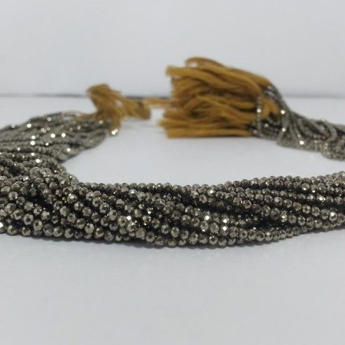 pyrite faceted beads