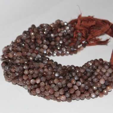 Shop Chocolate Moonstone Faceted Round Beads