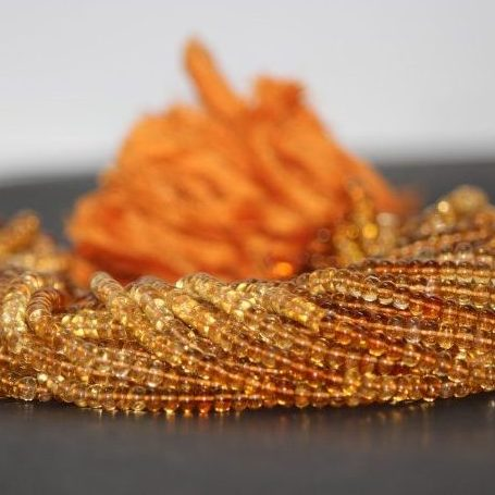 Shop Natural Citrine Smooth Rondelle Beads Strand