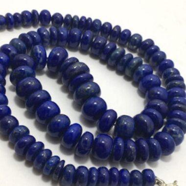 Shop Lapis Lazuli Smooth Rondelle Beads Strand
