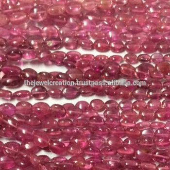 Shop Pink Tourmaline Smooth Oval Beads Strand