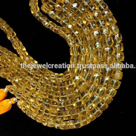 Shop Natural Citrine Faceted Box Beads Strand