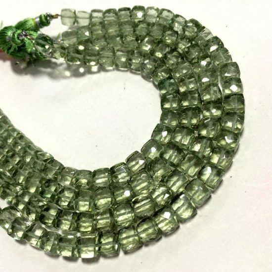 Shop Green Amethyst Faceted Box Beads Strand