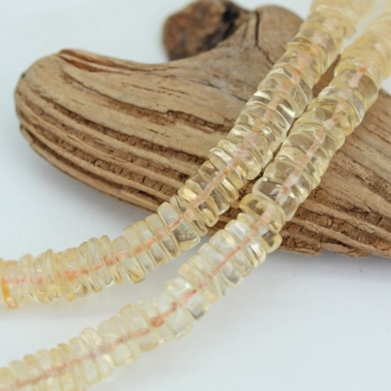 Shop Natural Citrine Faceted Heishi Tyre Beads Strand