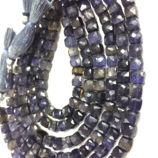 Shop Natural Iolite Faceted Box Beads Strand