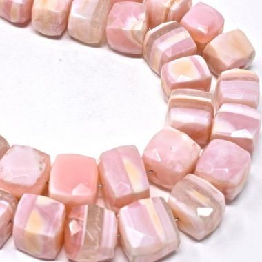 Shop Natural Pink Opal Faceted Box Beads Strand