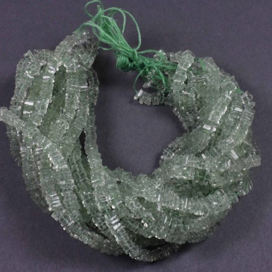 Shop Green Amethyst Smooth Square Beads Strand