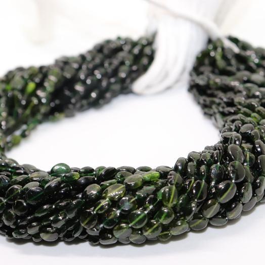 Shop Green Tourmaline Smooth Oval Beads Strand