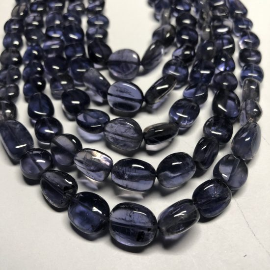 Shop Iolite Smooth Tumble Nuggets Beads Strand