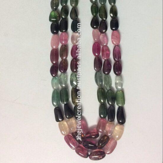 Shop Multi Tourmaline Smooth Tumble Nuggets Beads