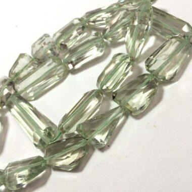 green amethyst tumble beads