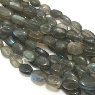 Shop Natural Labradorite Smooth Oval Beads Strand