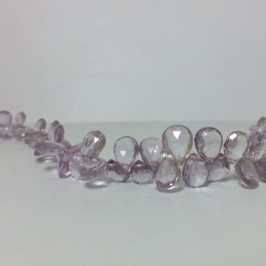 Shop Pink Amethyst Faceted Pear Beads Strand