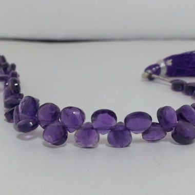 Shop African Amethyst Faceted Heart Beads Strand