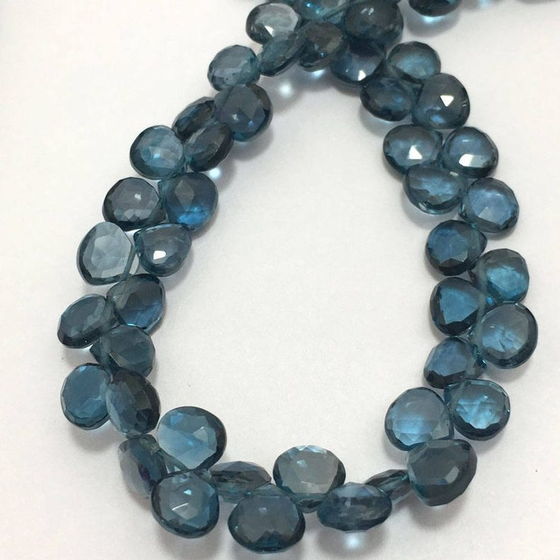 Shop London Blue Topaz Faceted Heart Beads Strand - FREE SHIPPING