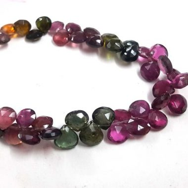 Shop Multi Tourmaline Faceted Heart Beads Strand