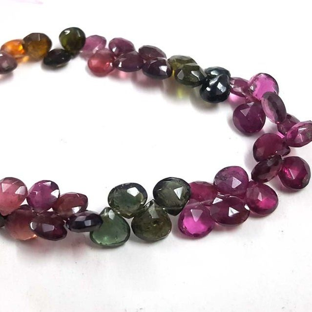 Shop Multi Tourmaline Faceted Heart Beads Strand - FREE SHIPPING
