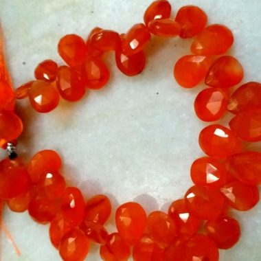 carnelian faceted pear beads