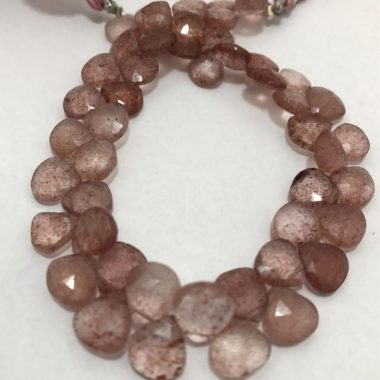 strawberry quartz heart beads